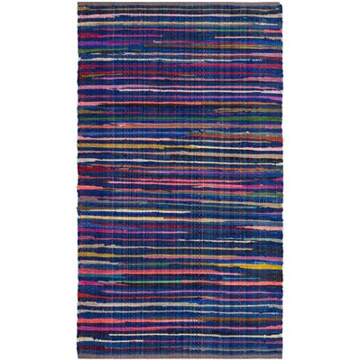 Shatzer Hand-Woven Blue Area Rug Rug Size: Rectangle 2 x 3