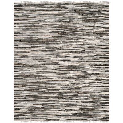 Shatzer Hand-Woven Black Area Rug Rug Size: Rectangle 10 x 14