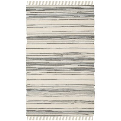 Shatzer Hand-Woven Ivory/Gray Area Rug Rug Size: Rectangle 2 x 3