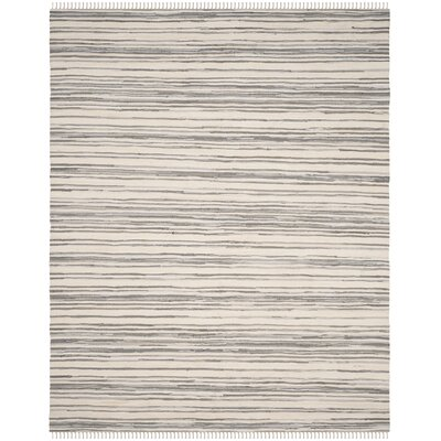 Shatzer Hand-Woven Ivory/Gray Area Rug Rug Size: Rectangle 10 x 14