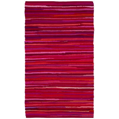 Shatzer Hand-Woven Red Area Rug Rug Size: Rectangle 2 x 3