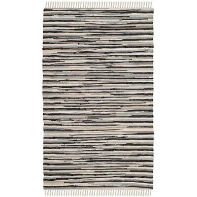 Shatzer Hand-Woven Black Area Rug Rug Size: Rectangle 2 x 3