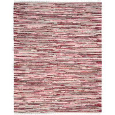 Shatzer Hand-Woven Red Area Rug Rug Size: Rectangle 9 x 12