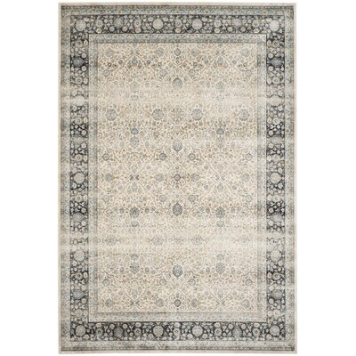 Persian Garden Vintage Ivory/Navy Area Rug Rug Size: Rectangle 8 X 10