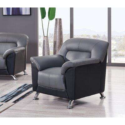 Red Hook Armchair Color: Dark Grey/Black