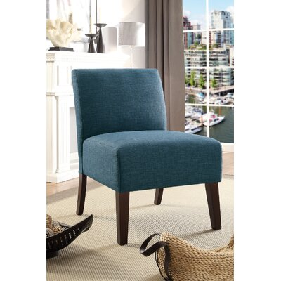 Rhee Dorris Fabric Parsons Chair Upholstery: Blue