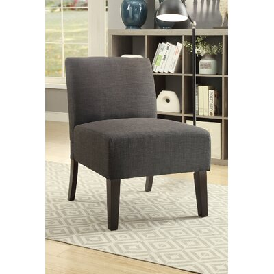 Rhee Dorris Fabric Parsons Chair Upholstery: Ash Black
