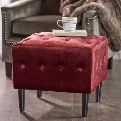 Ramm Ottoman Upholstery: Garnet