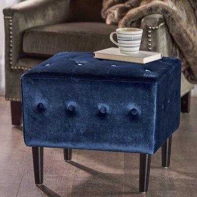 Ramm Ottoman Upholstery: Navy Blue