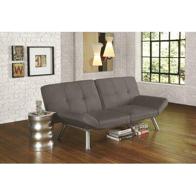 Cassandra Convertible Sofa Upholstery: Charcoal