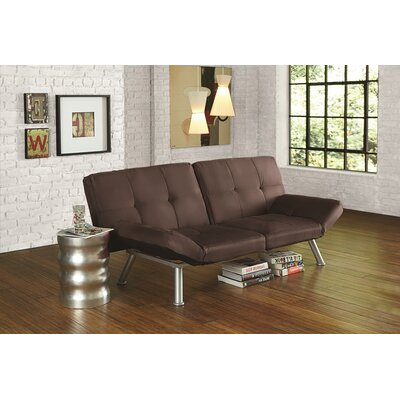 Cassandra Convertible Sofa Upholstery: Brown