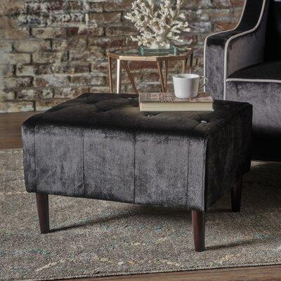 Ranck Ottoman Upholstery: Black