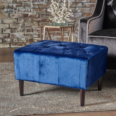Ranck Ottoman Upholstery: Navy Blue