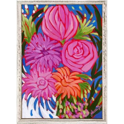 'Bold and Bright Florals I' Framed Acrylic Painting Print