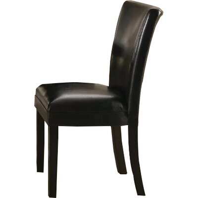 East Village Side Chair Upholstery: Black