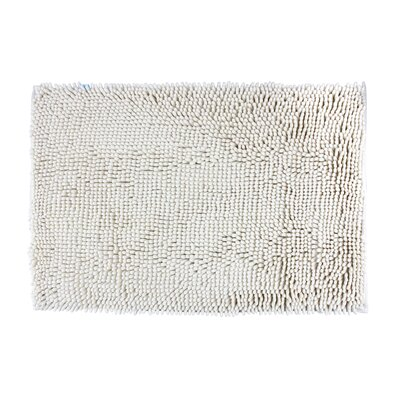 Chenille White Area Rug Rug Size: 24 x 16