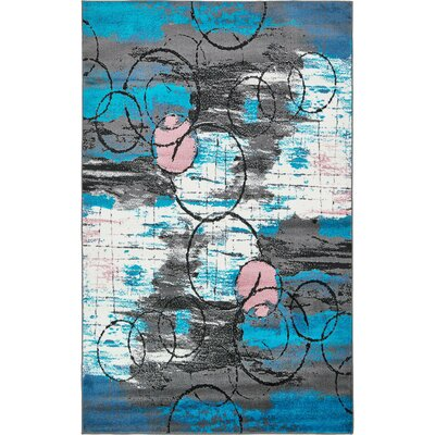 Sidney Turquoise Area Rug Rug Size: Rectangle 5 x 8
