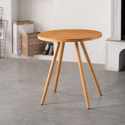 Bamboo Round Dining Table Color: Natural