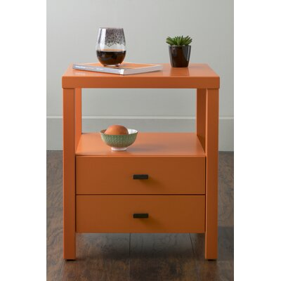 Sardina 2 Drawer Nightstand Color: Orange