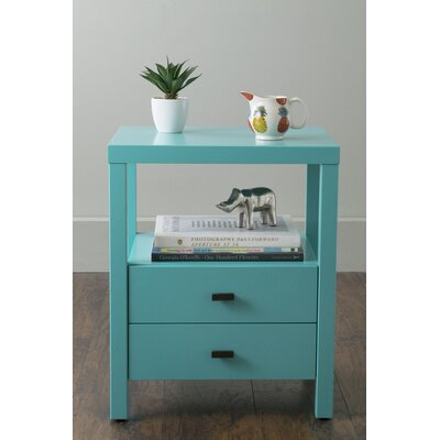Sardina 2 Drawer Nightstand Color: Turquoise