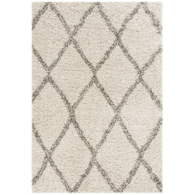 Elizabeth Street Ivory/Gray Area Rug Rug Size: Rectangle 4' x 6'