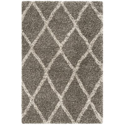 Elizabeth Street Gray/Ivory Area Rug Rug Size: Rectangle 2 x 3