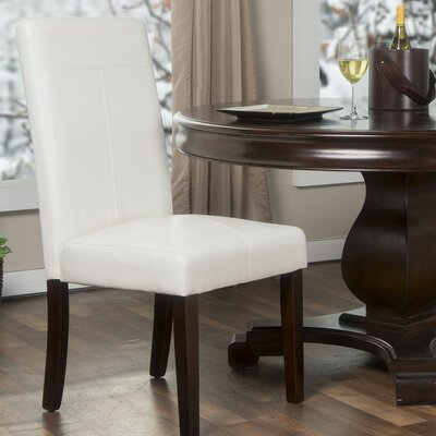 Spielman Wood Parsons Chair Upholstery: White