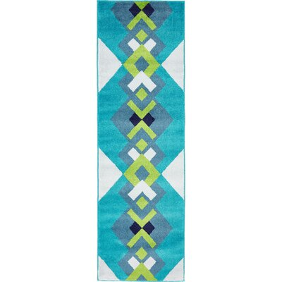 Sidney Turquoise Area Rug Rug Size: Runner 2 x 67