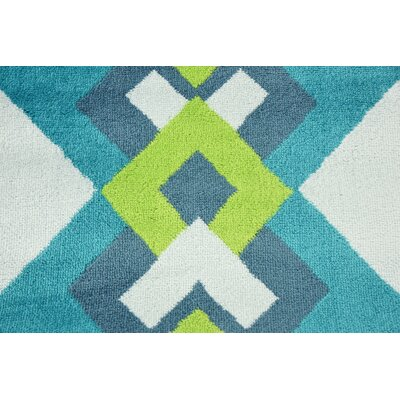 Sidney Turquoise Area Rug Rug Size: Rectangle 9 x 12
