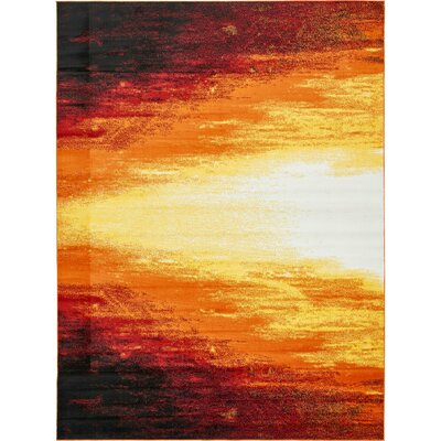 Sidney Orange Area Rug Rug Size: Rectangle 9 x 12