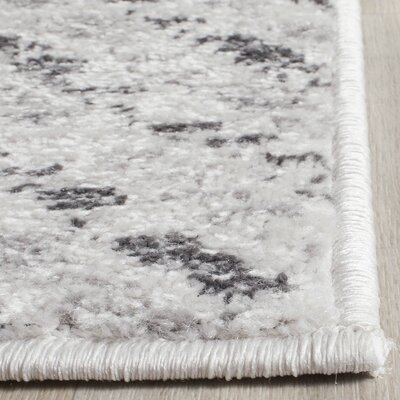 Schacher Ivory/Charcoal Area Rug Rug Size: Rectangle 51 x 76