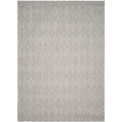 Lefferts Geometric Gray Indoor/Outdoor Area Rug Rug Size: Rectangle 8 x 11