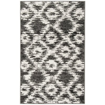 Schacher Charcoal/Ivory Area Rug Rug Size: Rectangle 26 x 4