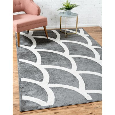 Sidney Gray Area Rug Rug Size: Rectangle 4 x 6