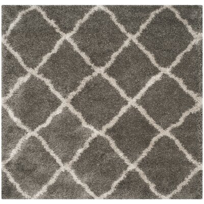 Charmain Grey & Taupe Area Rug Rug Size: Square 67