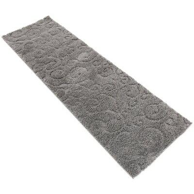 Scheffer Floral Dark Gray Area Rug Rug Size: Runner 2 x 67