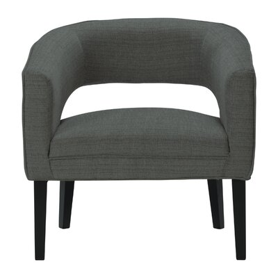 Quintanar Driftwood Barrel Chair Upholstery: Dark Gray