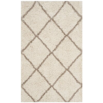 Elizabeth Street Ivory/Brown Area Rug Rug Size: Rectangle 3 x 5