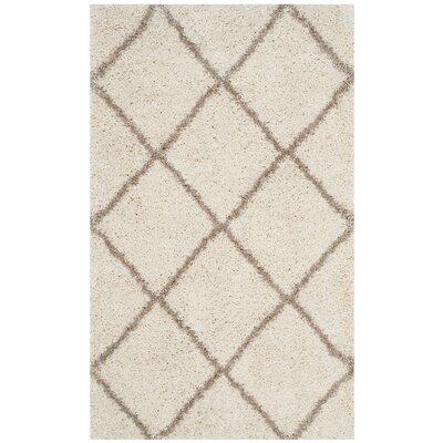 Elizabeth Street Ivory/Brown Area Rug Rug Size: Rectangle 3 x 5