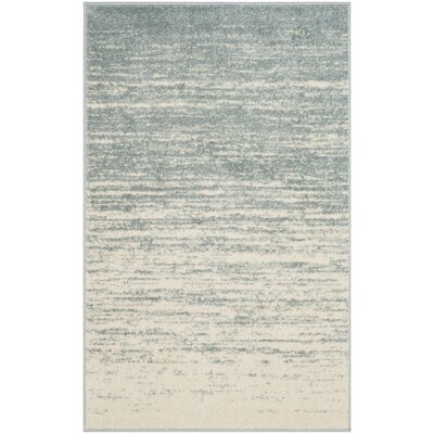 Schacher Slate/Cream Area Rug Rug Size: Rectangle 3 x 5