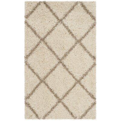 Elizabeth Street Ivory/Brown Area Rug Rug Size: Rectangle 2-3 X 3-9