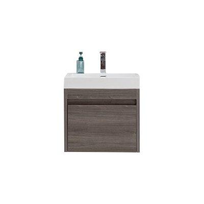 Rosas Modern 24 Single Bathroom Vanity Set Base Finish: Maple Gray