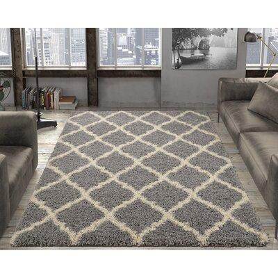 Radford Gray Shaggy Area Rug Rug Size: 710 x 910