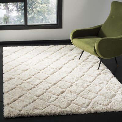 Felten Cream Area Rug Rug Size: Rectangle 6 x 9