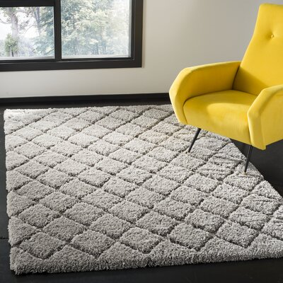 Felten Light Gray Area Rug Rug Size: Rectangle 4 x 6