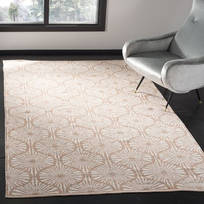 Oak Hill Hand-Woven Orange/Ivory Area Rug Rug Size: Rectangle 5 x 8