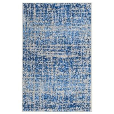 Schacher Blue/Silver Area Rug Rug Size: Rectangle 26 x 4