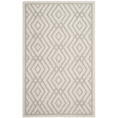 Cabana Light Gray/Cream Indoor/Outdoor Area Rug Rug Size: Rectangle 33 x 53