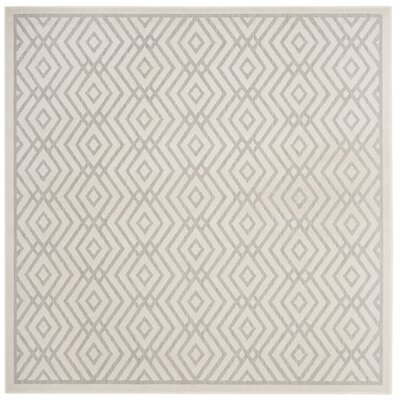 Cabana Light Gray/Cream Indoor/Outdoor Area Rug Rug Size: Square 67