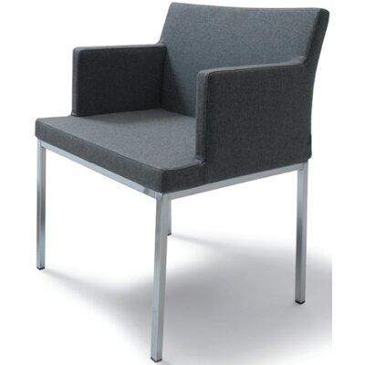 Pettiford Chrome Armchair Upholstery: Dark Gray Organic Wool